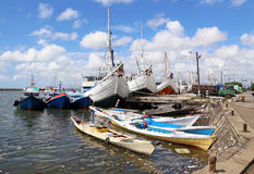 Makassar-Hafen, Süd-Sulewesi, Indonesien Lizenzfreies Stockfoto
