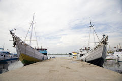 Makassar harbor Royalty Free Stock Photo
