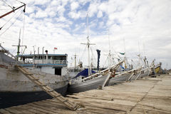 Makassar harbor royalty free stock photography