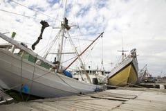 Makassar harbor Stock Image