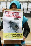 Sympathy for the death of Jamal Khashoggi royalty free stock photos