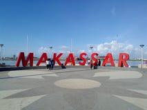 Makassar Pantai Losari Stock Afbeeldingen
