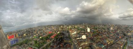 Makassar stad Arkivbild