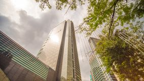 Makati στο μετρό Μανίλα, οι Φιλιππίνες Ουρανοξύστες της περιοχής Στοκ φωτογραφίες με δικαίωμα ελεύθερης χρήσης