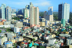 Makati city. Aerial view on Makati - is one of the 17 cities that make up Metro Manila. Philippines royalty free stock image