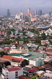 Makati city Manila skyline philippines. Makati city in manila cpital of the philippines with buildings packed around the pasig river stock images