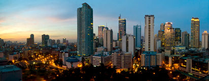 Makati City, Manila, Philippines. This image shows the buildings of Makati City, in Manila, Philippines Royalty Free Stock Photos