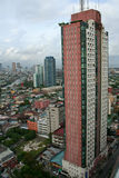 Makati city Manila Philippines. Urban sprawl of densely populated and crowded Makati city in manila capital of the philippines stock photography
