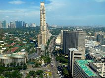 Makati city, philippines, asia. Arial view of makati city, philippines in asia stock photography