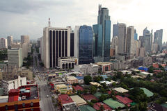 Makati city skyline manila philippines Stock Image