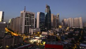 Makati district in Manila, Philippines. Makati is the financial district of Manila, the capital of Philippines stock images