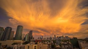 Makati es una ciudad en la región de Manila del metro de Filipinas y el eje financiero del país s Él s sabido para los rascacielo Foto de archivo libre de regalías