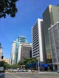 MAKATI FILIPINY, LIPIEC, - 19, 2015: Makati miasto, Manila Makati jest centrum finansowym obraz royalty free