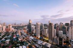 Makati horisont, Manila, Filippinerna royaltyfria bilder