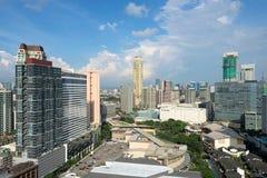 Makati horisont, Manila Filippinerna royaltyfri fotografi