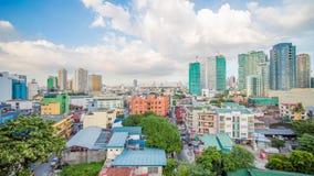 Makati jest miastem w Filipińskim metra Manila regionie i kraju s pieniężnym centrum Ja s znać dla drapaczy chmur obrazy royalty free