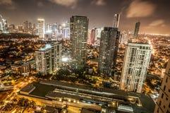 Makati linia horyzontu Filipiny Obraz Stock