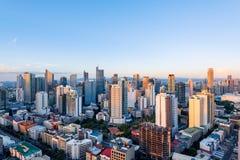 Makati linia horyzontu Manila, Filipiny (-) zdjęcia stock