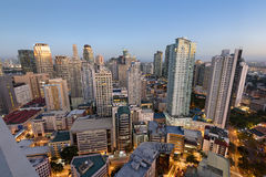 Makati linia horyzontu w Manila, Filipiny - fotografia royalty free
