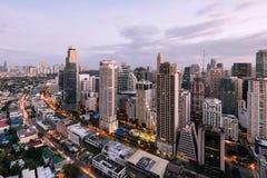 Makati-Skyline, Manila, Philippinen stockbilder