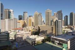 Makati Skyline in Manila - Philippines Stock Image