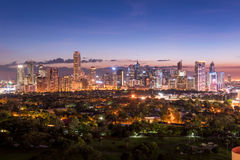 Makati skyline, Manila - Philippines Royalty Free Stock Photography