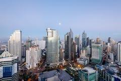 Makati Skyline, Manila, Philippines. Stock Photo