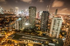 Makati skyline Phillippines. City of Makati Philippines skyline at dusk Stock Image