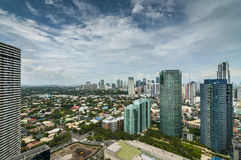 Makati skyline. Sprawling urban scape of Makati, residential and high rise building stock photo
