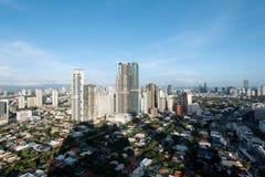 Makati stadshorisont, Manila - Filippinerna royaltyfri fotografi