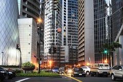 Makati Stadt stockbilder