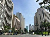 Makati-Stadt, Manila Stockfotos