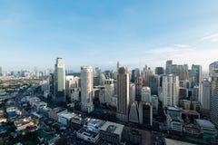 Makati-Stadt-Skyline, Manila - Philippinen stockfoto