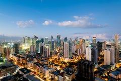 Makati-Stadt-Skyline, Manila - Philippinen stockbilder