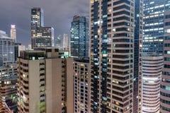 Makatistad in Filippijnen De spruit van de nachtfoto royalty-vrije stock fotografie
