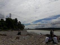 Belly Bridge. Makawanpur Hetauda Nepal royalty free stock photo