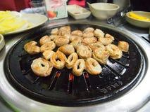 Makchang eller so-makchang, sista viscus för nötkött, löpmage - korean mig royaltyfri fotografi