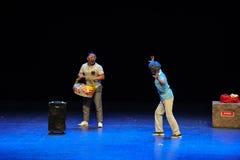 Жесты Make угрожая - сделайте эскиз к скачке простые люди тетушки- квадратного танца большой этап Стоковое Изображение