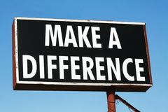 Make A Difference Sign Royalty Free Stock Photography