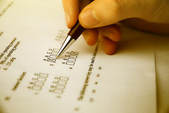 Free Make A Test Exam Stock Images - 6086874