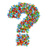 Make the abstract question of pills Royalty Free Stock Photos