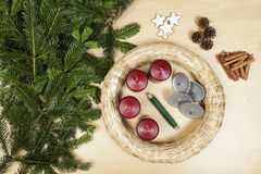 Make an Advent wreath Royalty Free Stock Photo