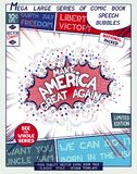 Make America Great Again. Motivation slogan. Poster design in style of comics book. Vector illustration Royalty Free Stock Photo