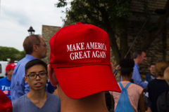Make American Great Hat Worn Backwards Stock Photography