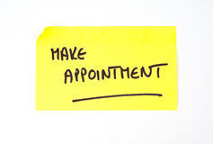 'Make Appointment' written on a sticky note Stock Photography