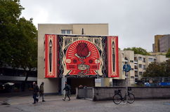 `Make art - not war` graffiti Stock Photo