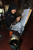 Make batik Royalty Free Stock Photography