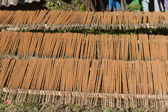 Make big Incense Stick in the village. Sapa. Vietn Stock Photos