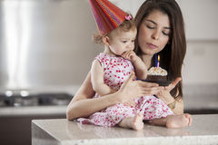 Make a birthday wish Royalty Free Stock Photography