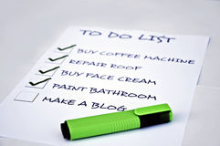 Make a blog. To do list with make a blog Royalty Free Stock Images
